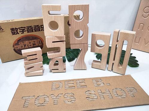 Wooden Numbers Block 蒙氏教具木制数字积木