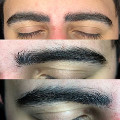 Men's eyebrow microlading results.