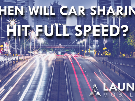 When will car sharing reach full speed?