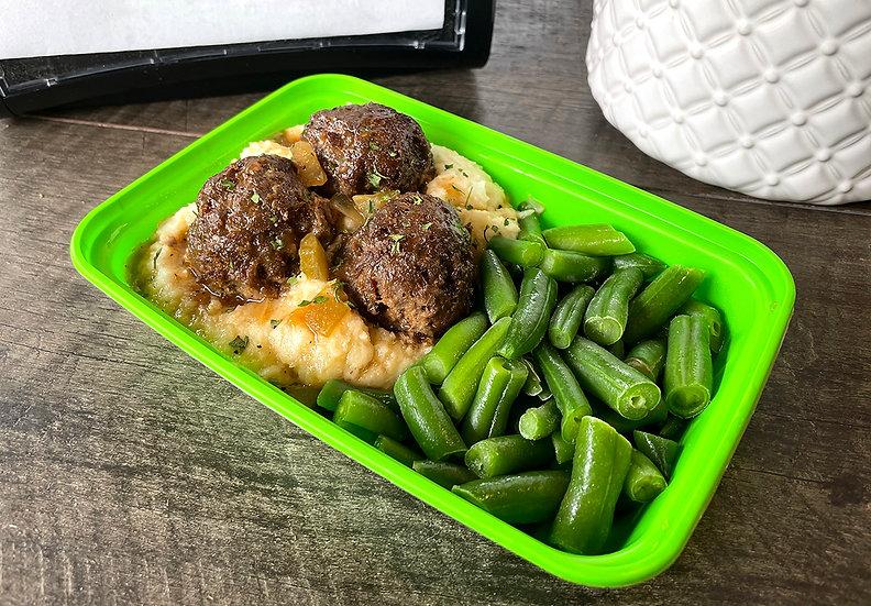 Meatballs & Gravy w/Cauli Mash
