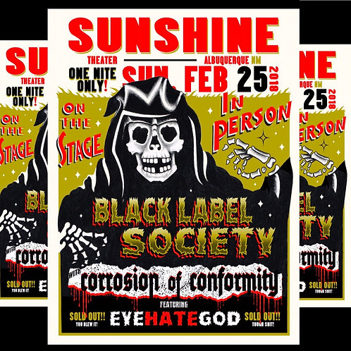 BLACK LABEL SOCIETY - SUNSHINE THEATER 2/25/18