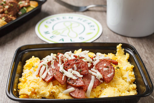Turkey Sausage and Eggs
