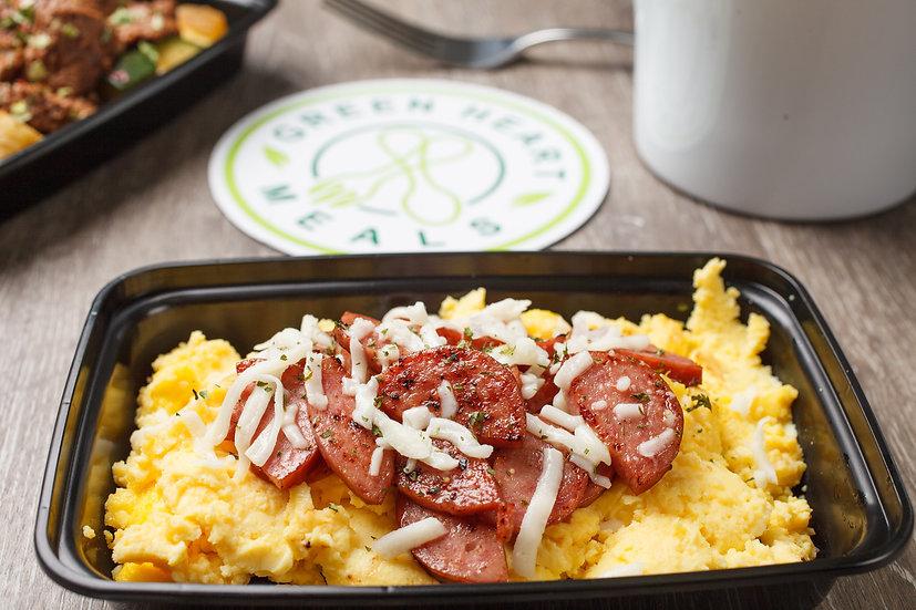 Turkey Sausage and Eggs