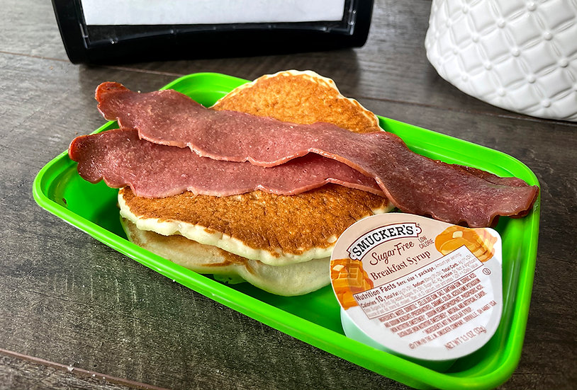 Protein Pancakes with Turkey Bacon