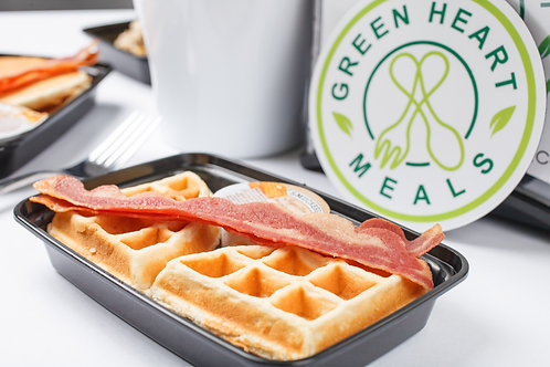 Protein Waffles with Turkey Bacon