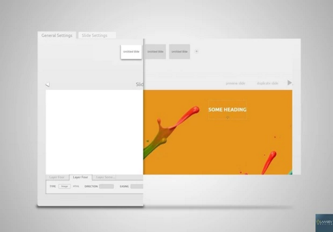 WorPress Plugin Web Slider Concept