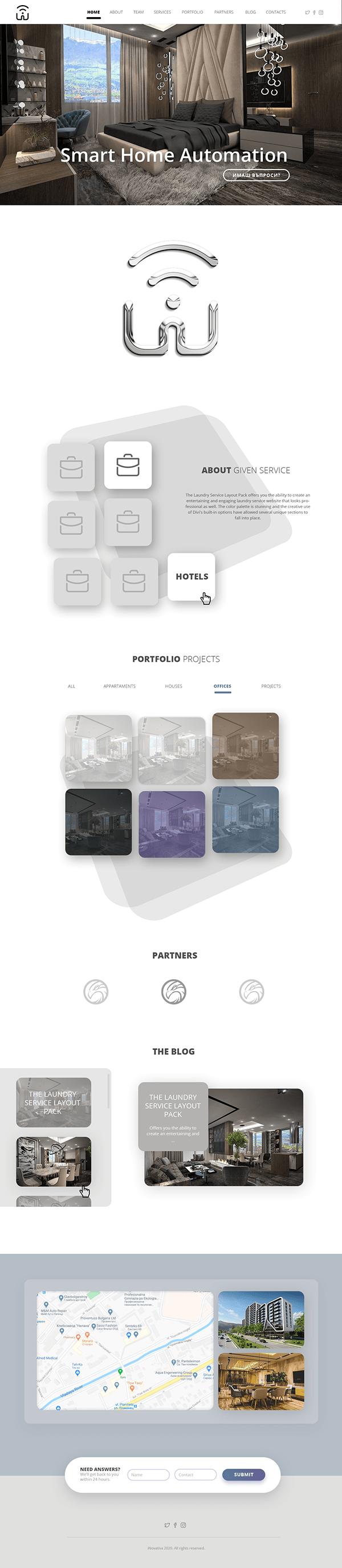 Home Automation Website Design