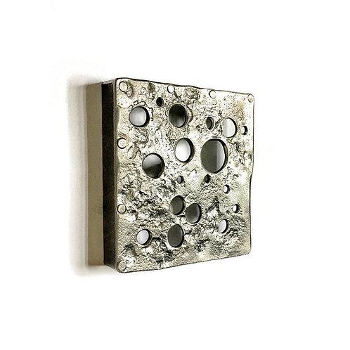 "Modern Designer Cabinet Pull & Knob ""Swiss Cheese""."