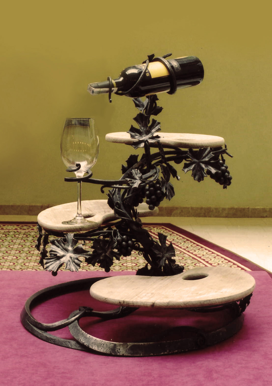 Cheese and Wine Bottle Rack Holder