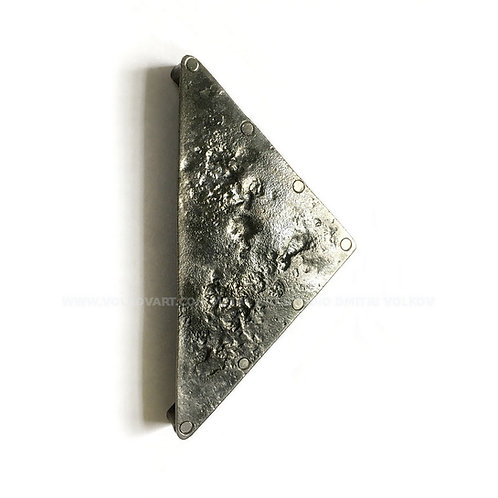"""Contemporary Cabinet - Drawer Pull Triangle """"Parmigano"""". Handcrafted Forged."""