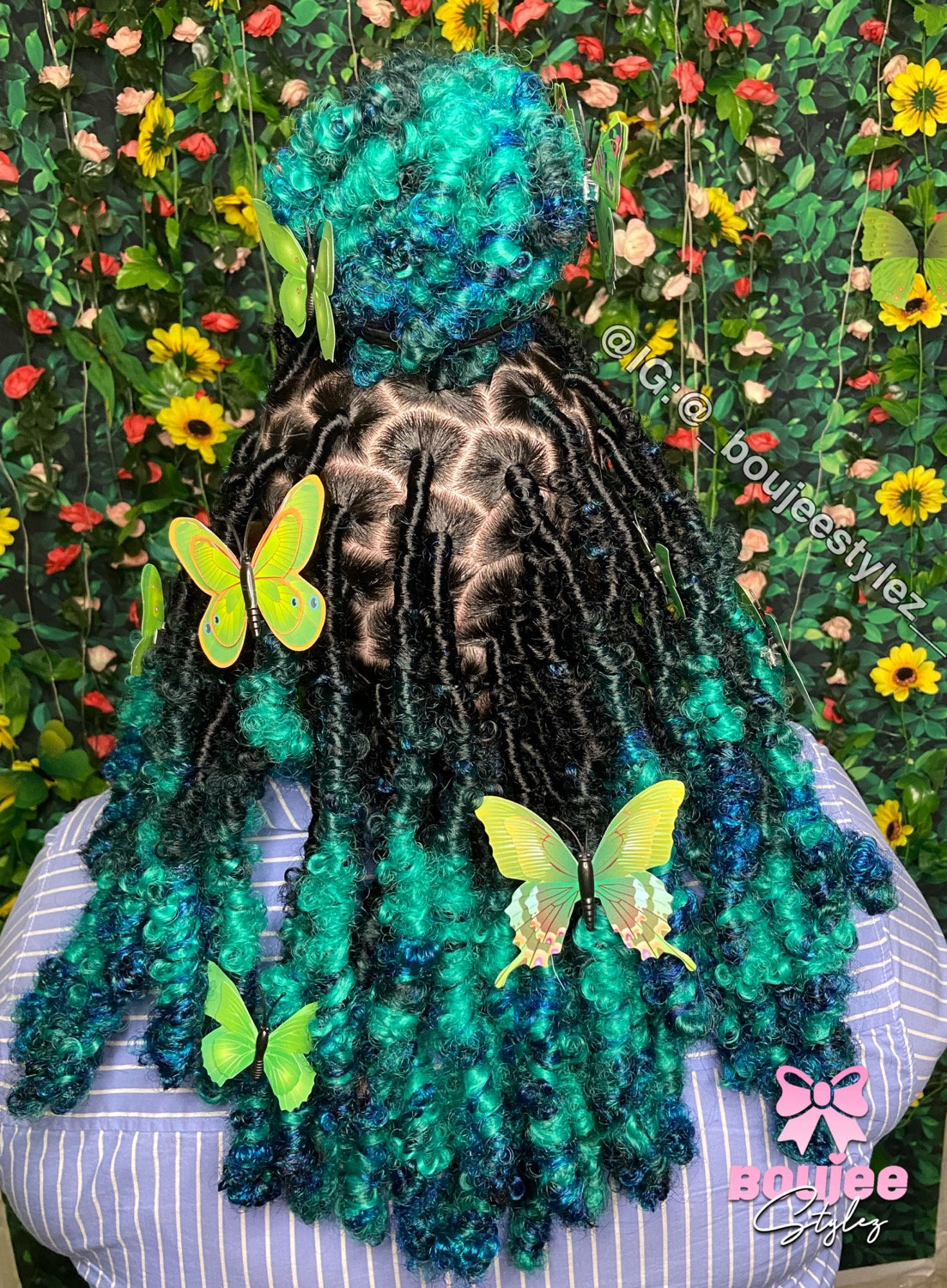 Med Butterfly locs hair included