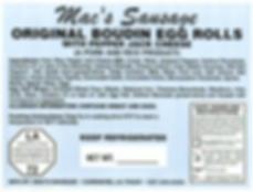 Macs Sausage-Original Boudin Egg Rolls w