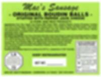 Macs Sausage-Original Boudin Balls Stuff
