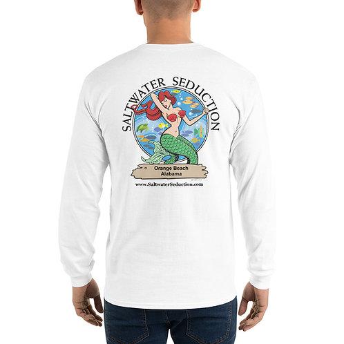 Saltwater Seduction Orange Beach Men's Long Sleeve Shirt