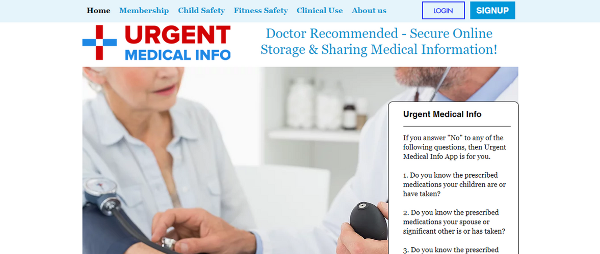 Urgent Medical Info Web Page.png
