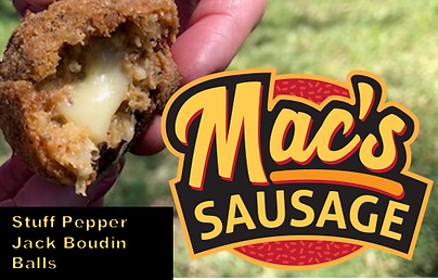 Mac's Sausage Boudin Ball Stuffed w Pepp