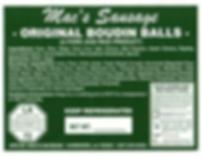 Macs Sausage-Original Boudin Balls-Label