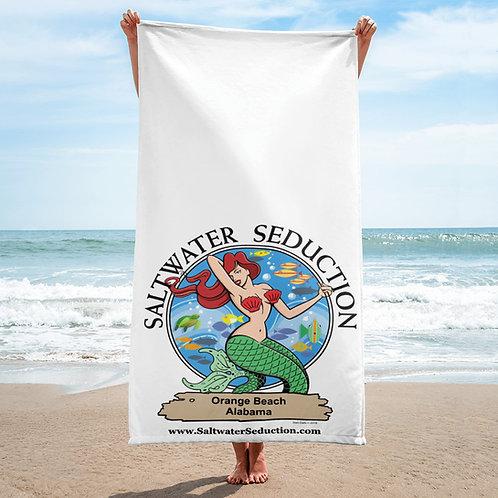 Saltwater Seduction Orange Beach Towel