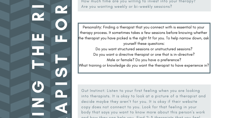 Finding The Right Therapist For You