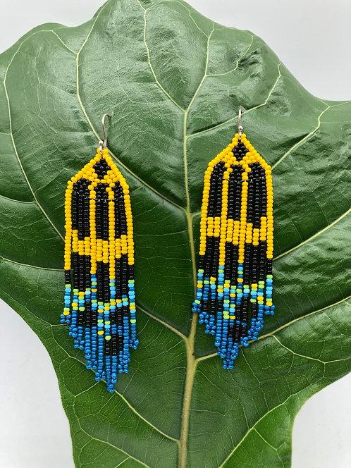 Earrings - rana amarilla 1