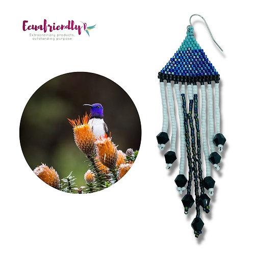 "Hummingbird  ""Blue-throated hillstar""  - Earrings"