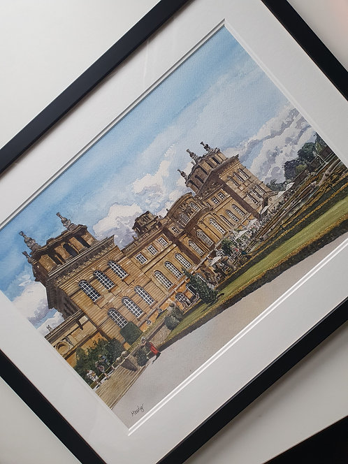 A Selfie At Blenheim Palace. Original Artwork, Framed.