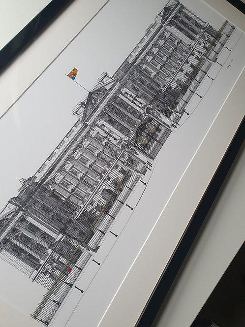 Buckingham Palace, Limited Edition, Hand Embellished Medium Print.