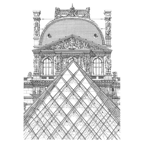 """""""PAVILLON RICHELIEU AND THE LOUVRE, PARIS"""""""