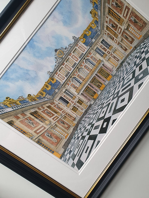 First Edition Framed Print. Palace of Versailles, 24ct gold leaf.