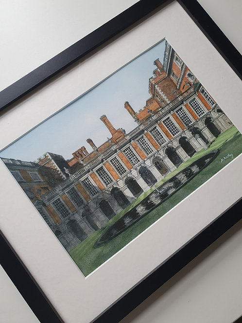 Hampton Court, Inner Courtyard. Open Edition Framed Print.