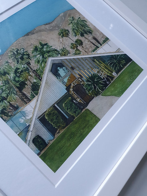 Palm Springs I. Limited Edition Framed Print.