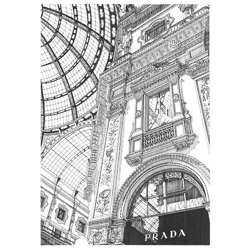 """PRADA IN THE GALLERIA, MILAN"""