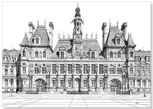 A2. Hotel De Ville. Paris