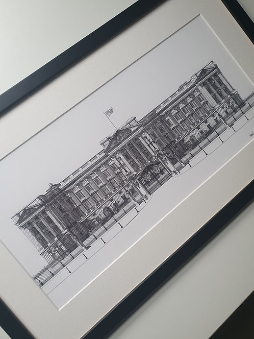 First Edition, Buckingham Palace small print