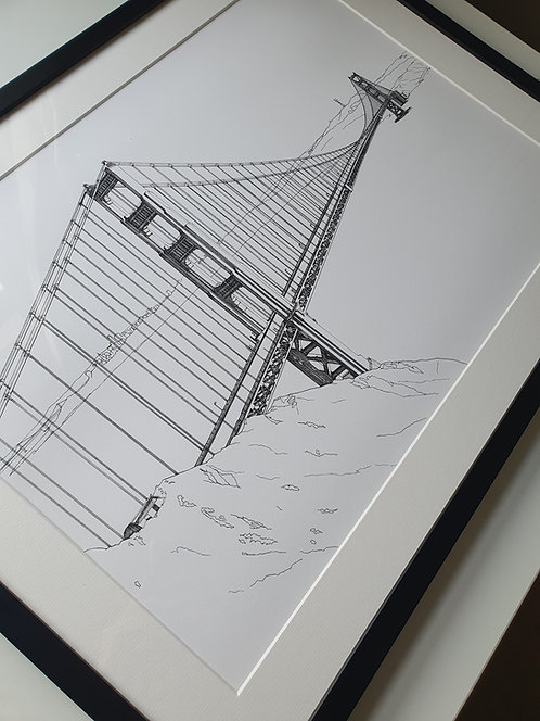 First Edition, Golden Gate Bridge, San Francisco print.