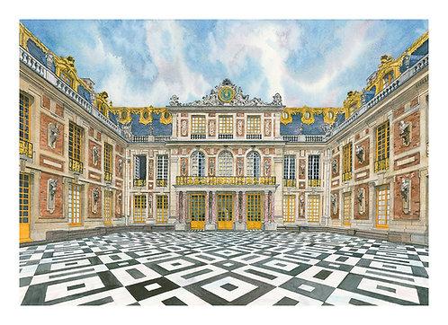Original watercolour 'Palace of Versailles' watercolour
