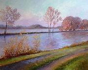 Vente en ligne, mon-tableau.com,Tableau peintre BIDERMANN Guillaume peinture acrylique les bord de l'Eure achat vente