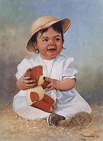 Tableau artiste peintre BIDERMANN Guillaume  Peinture portrait sur photo Galerie achat vente