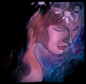 Tableau acrylique et huile jeune fille romantique artiste BIDERMANN Guillaume vente achat peinture
