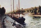 Taleau Paris bateaux sur la Seine Artiste peintre BIDERMANN Guillaume  Peinture Galerie achat vente