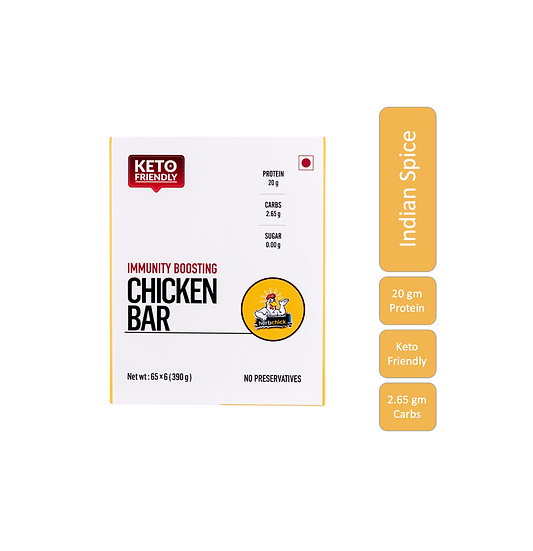 Spice Mix - 20 Gms Chicken Protein Bars (6 Bars X 65 Gms)