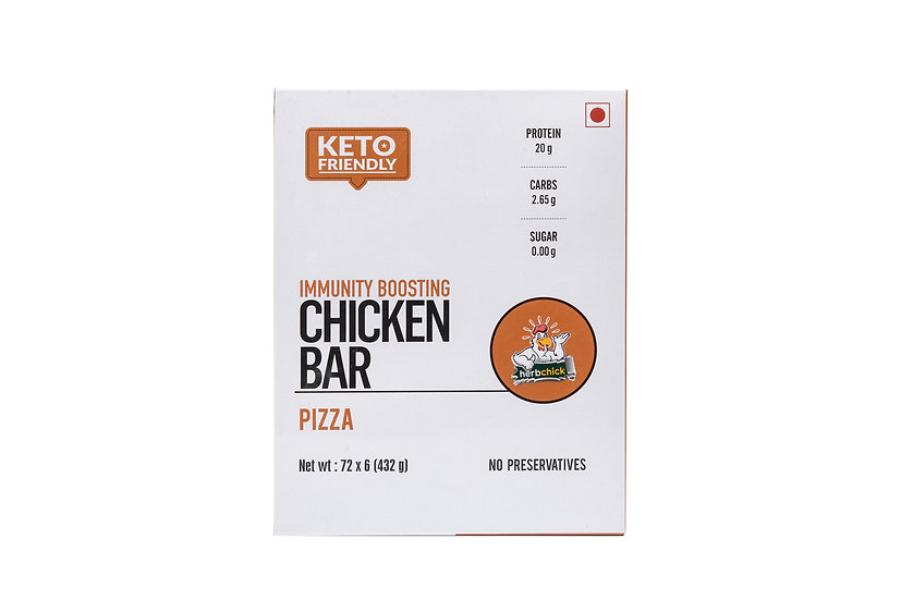 20 Gms Chicken Protein Bars - Pizza (6 Bars X 65 Gms)
