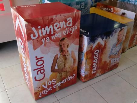 Ploteo Cubos de Madera para Exhibir Productos FAMAGO