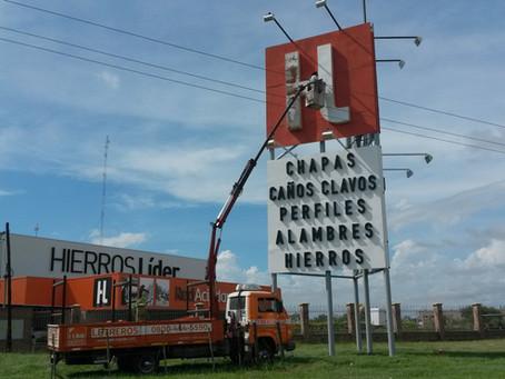 Mantenimiento de Letreros en HIERROS LIDER S.A.