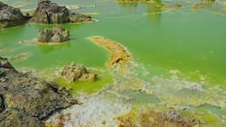 Ethiopie Dallol lac d'acide