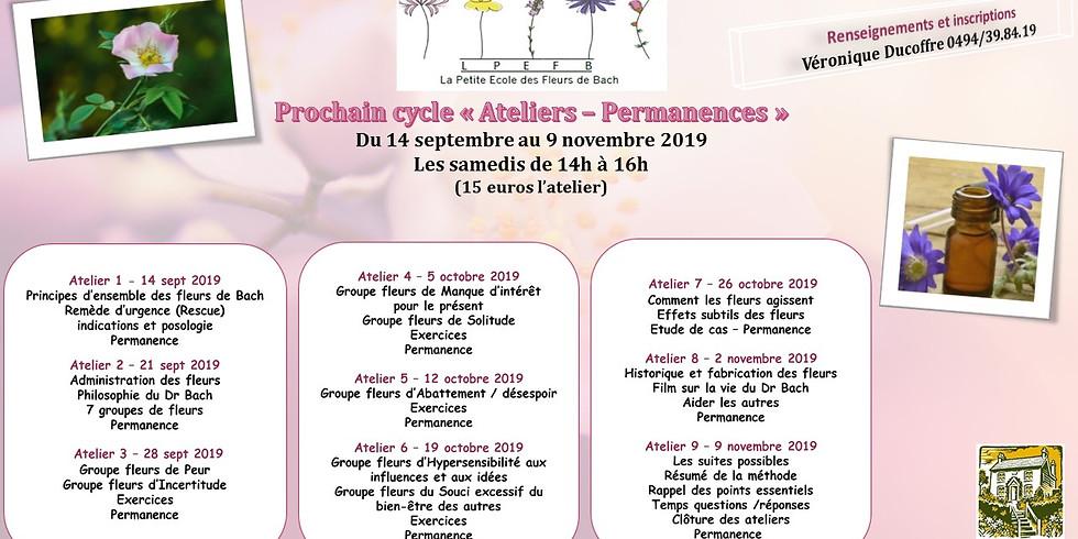 """""""Ateliers Permanences en fleurs de Bach"""""""