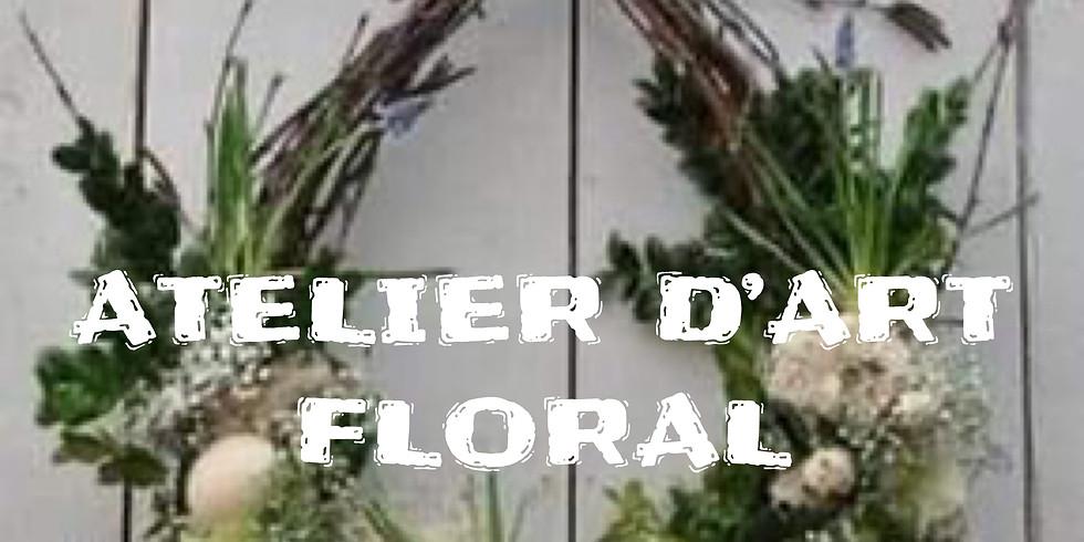 Atelier d'art floral: Montage Pâques à la porte...