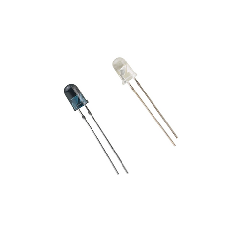 5mm Silicon PIN Photodiode, 5mm Infrared LED, 940nm Pair.