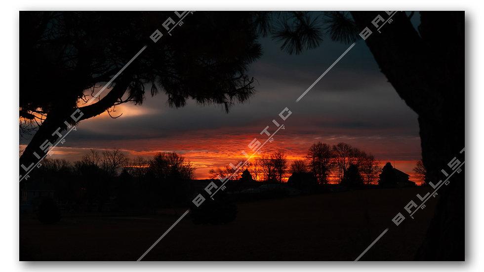 Vibrant Orange Sunrise
