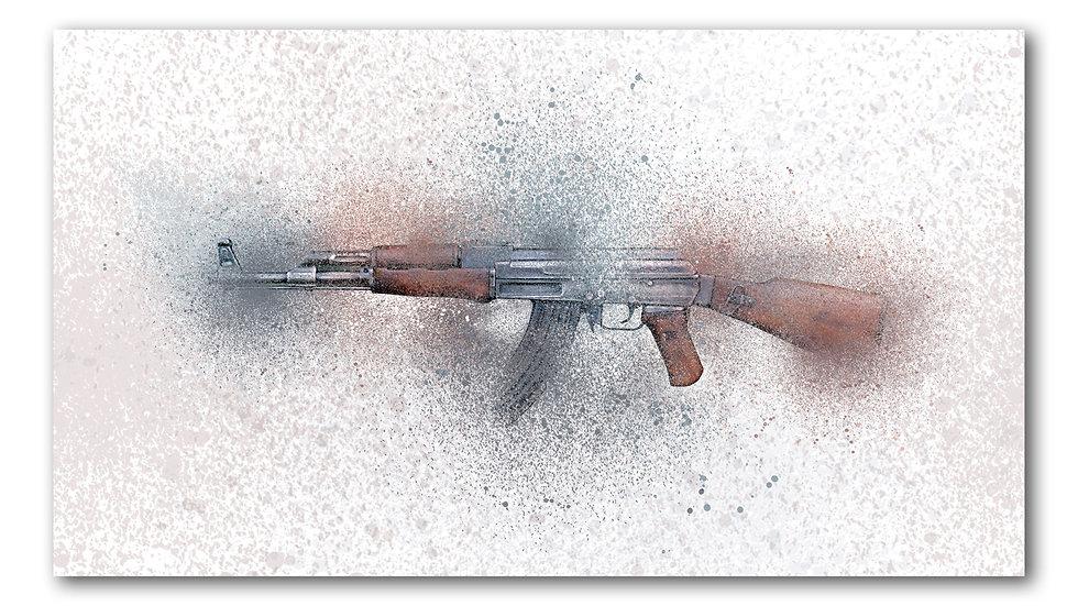 Splattered AK47